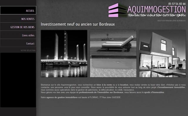 Aquimmogestion agence immobiliere et gestion de for Agence immobiliere prestige bordeaux