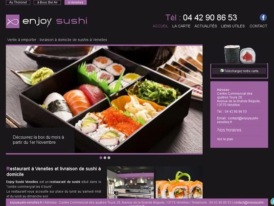 d gustation et vente de sushis emporter enjoy sushi venelles gastronomie restaurants et. Black Bedroom Furniture Sets. Home Design Ideas
