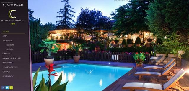 H tel restaurant avec piscine proche de lyon les clos de for Hotel design piscine lyon