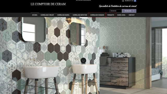 o acheter du carrelage imitation carreaux de ciment montpellier le comptoir de ceram. Black Bedroom Furniture Sets. Home Design Ideas