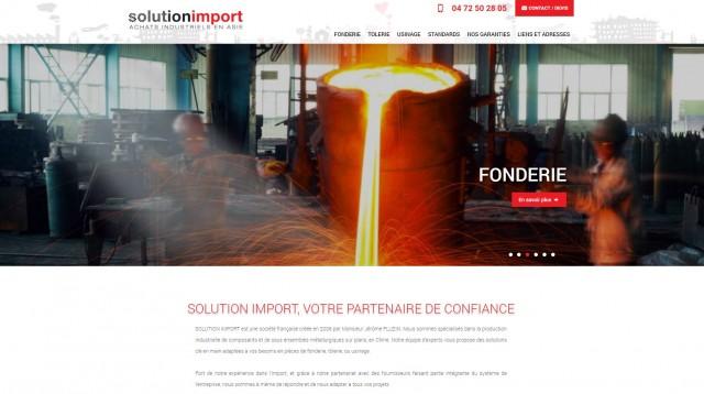 Import pièces de fonderie de Chine ver Lyon