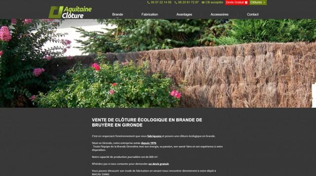 Clôture brande de bruyère Gironde
