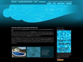 Piscine hors sol coque polyester vente et construction : Aqua Air Confort Gard.