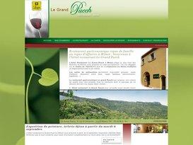 Hotel restaurant Logis de France semi gastronomique : Le Grand Puech Mimet.