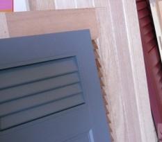 Volets en PVC de couleur