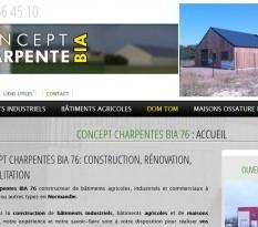 Charpentes bois - Construction de batiments industriels - BIA 76 - Normandie