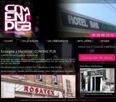 Pose d'enseigne lumineuse à Marseille - COM'ENS PUB
