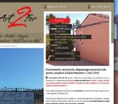 Meuble en fer forgé sur Aix en Provence