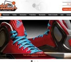Vente en ligne de vêtements de basket