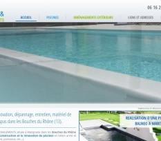 Construction de piscine béton à Marignane