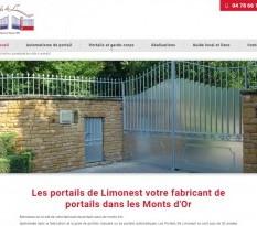 Fabricant de portail en aluminium à Limonest