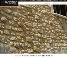 Rénovation façade imitation pierre Nice